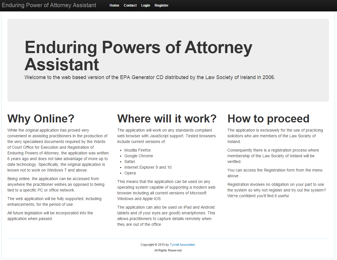 Enduring Power of Attorney Assistant